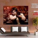 Han Solo Art Star Wars Harrison Ford Action Movie Huge Giant Poster