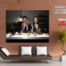 Skeleton Poker Emily Deschanel David Boreanaz Bones Tv Series Huge Giant Poster