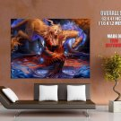 Fairy Girl Magic Forest Dragon Horse Art GIANT 63x47 Print Poster