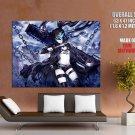 Black Rock Shooter Hot Girl Katana Anime Art Huge Giant Poster
