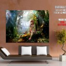 Magic Forest Beautiful Girl Animals Anime Art Huge Giant Poster