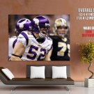 Chad Greenway Screaming Minnesota Vikings Nfl Football Huge Giant Poster