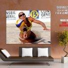 Sand Girl Beach Volleyball Hot Sport Huge Giant Print Poster