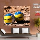 Balls Sand Beach Volleyball Sport Huge Giant Print Poster