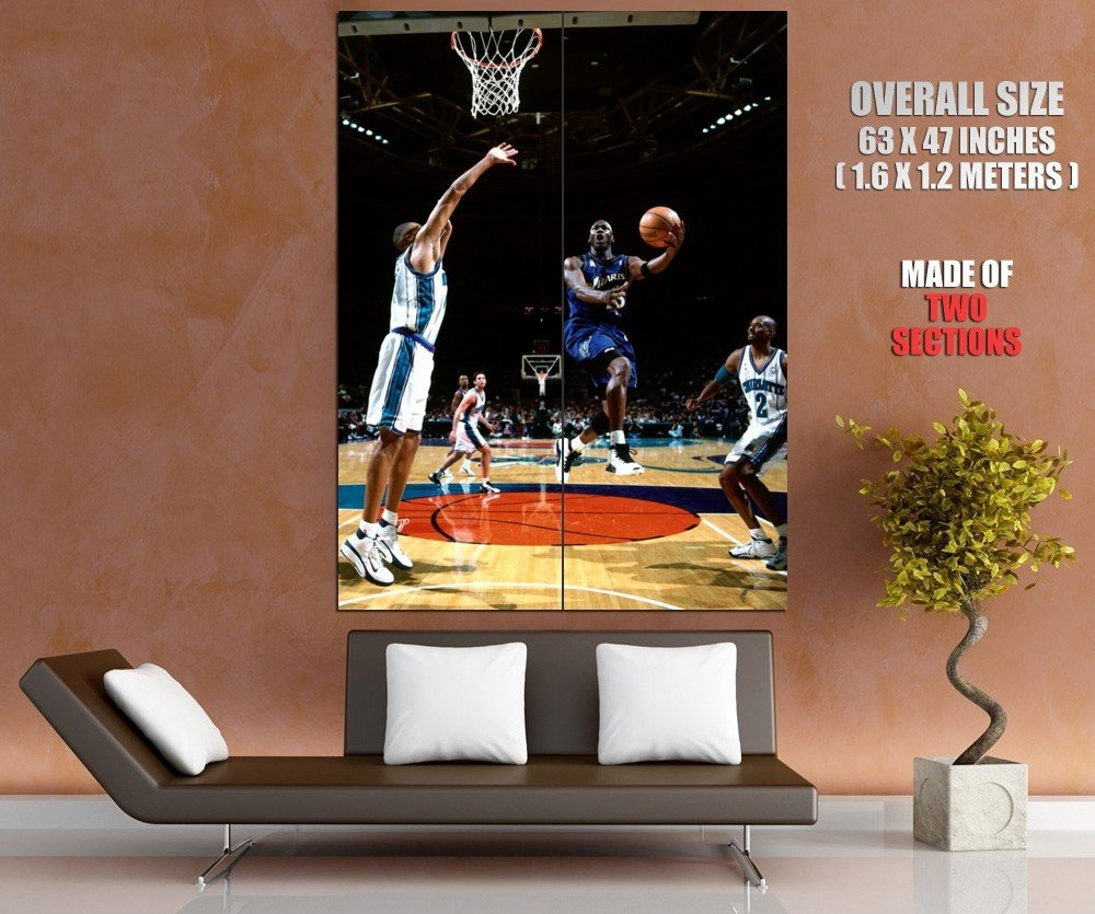 Michael Jordan Wizards Layup Rare Huge Giant Print Poster