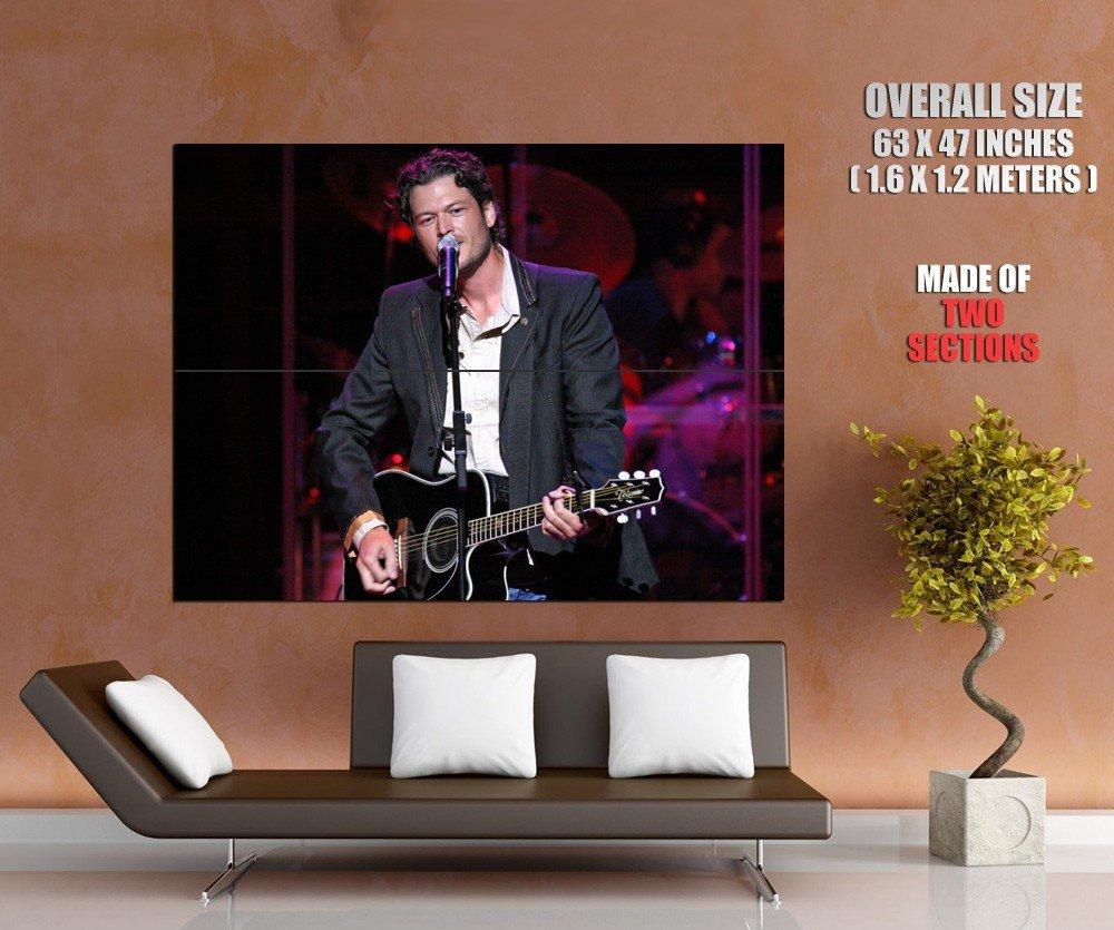Blake Shelton Guitar Live Concert Country Huge Giant Print Poster