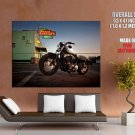 Harley Davidson Forty Eight Chopper Cruiser Huge Giant Print Poster