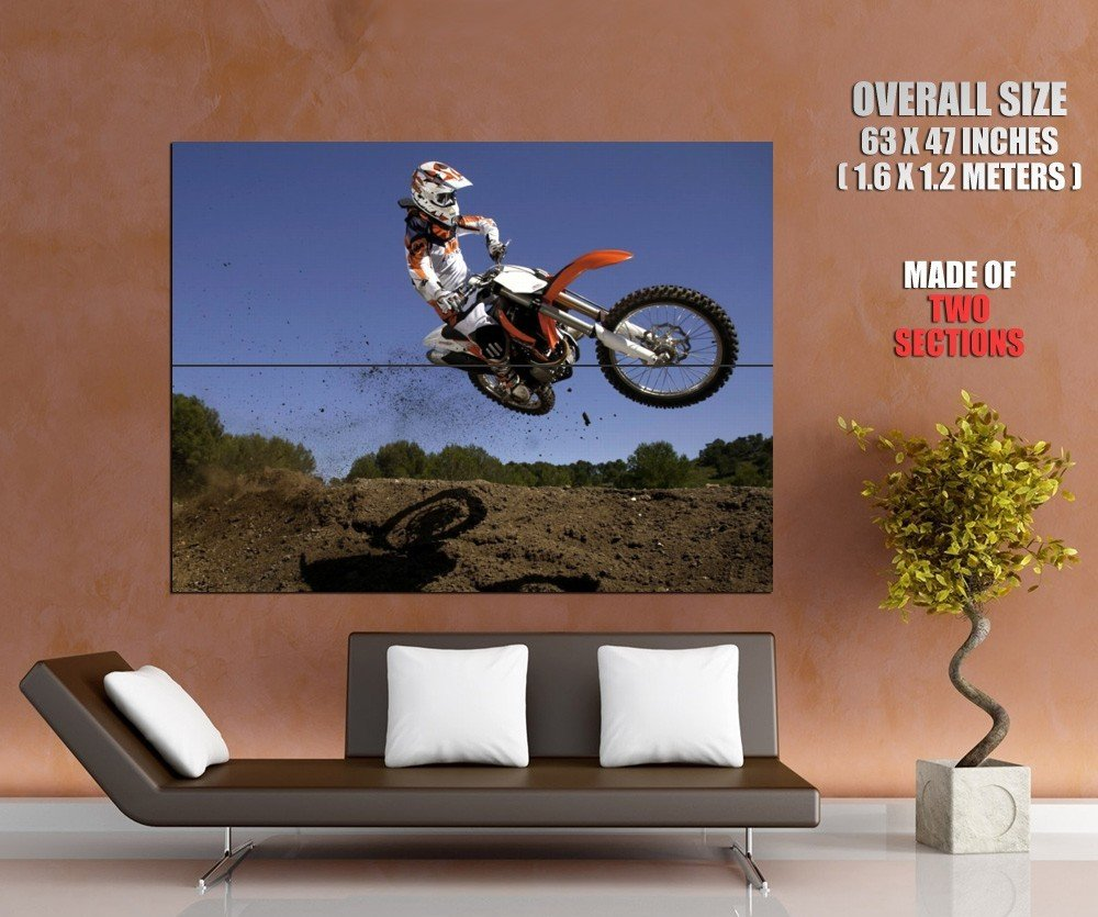 Ktm 350 Sx F Motocross Bike Huge Giant Print Poster