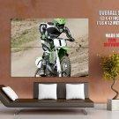 Kawasaki Kx 250 Motocross Bike Huge Giant Print Poster