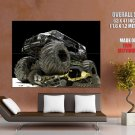 Black Monster Truck Bigfoot Car Huge Giant Print Poster