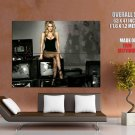 Hot Blonde Girl Sexy Boobs Stocking Huge Giant Print Poster