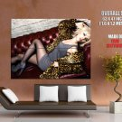 Scarlett Johanson Hot Girl Stocking Huge Giant Print Poster