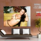 Sexy Brunette Girl Tattoo Hot Bikini Huge Giant Print Poster