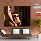 Sexy Girl Hot Lingerie Nipples Huge Giant Print Poster