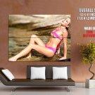 Horny Wet Babe Pretty Titts Bikini Huge Giant Print Poster