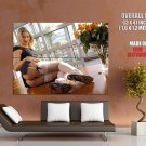 Hot Blonde Babe Stocking Sexy Butt Huge Giant Print Poster