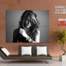 Cute Girl Portrait Hot Bw Huge Giant Print Poster