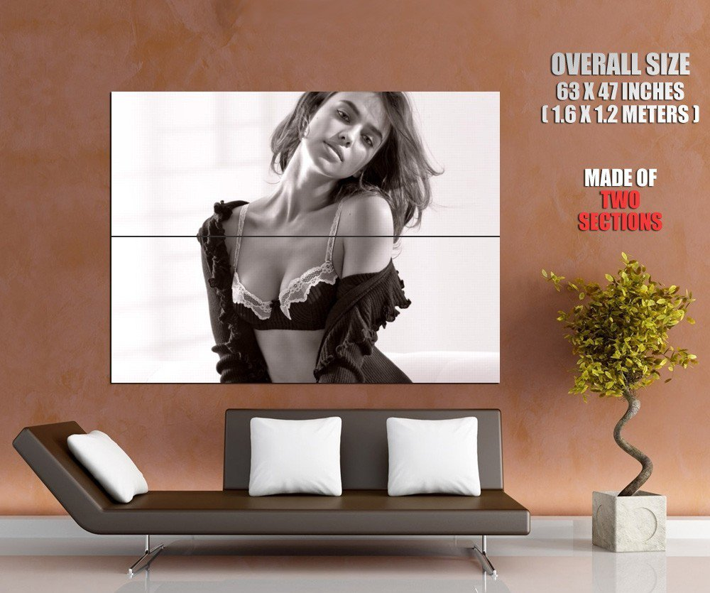 Hot Girl Sexy Bra Boobs Titts Bw Huge Giant Print Poster