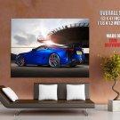 Lexus Lfa Blue Supercar Huge Giant Print Poster