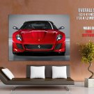 Ferrari 599 Gto Red Front Supercar Huge Giant Print Poster