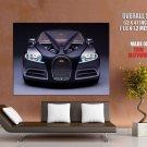 Bugatti Front Future Concept Car Huge Giant Print Poster