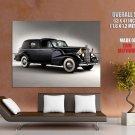 Cadillac Black Vintage Retro Car Huge Giant Print Poster