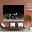 Black Bentley Convertible Retro Car Huge Giant Print Poster