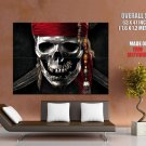 Pirates Of The Caribbean Silver Skull Huge Giant Print Poster