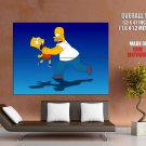 Homer Bart Simpson Choke Movies Huge Giant Print Poster