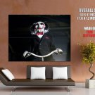 Saw Jigsaw Mask Scary Movie Huge Giant Print Poster