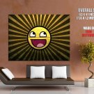 Smiley Sunny Cool Art Style Huge Giant Print Poster