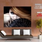 Beautiful Girl Eye Fan Rendering Art Huge Giant Print Poster
