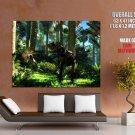 Allosaurus Dinosaurs Rendering Art Huge Giant Print Poster