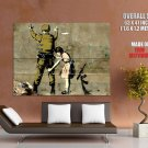 Girl Searching Soldier Graffiti Cool Huge Giant Print Poster