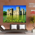 Castle Lake Swamp Sky Nature Huge Giant Print Poster