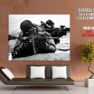 Black Scout Soldier Military Weapon Huge Giant Print Poster
