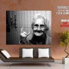 Brutal Gramma Rocks Granny Mood Huge Giant Print Poster