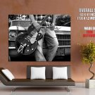 Gretsch Bigsby Guitar Bw Cadillac Music Huge Giant Print Poster