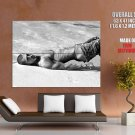 Hot Sexy Guy Beach Bw Male Huge Giant Print Poster