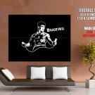 Bruce Wii Cool Arl Lee Minimal Huge Giant Print Poster