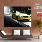 Bmw M3 Yellow Car Road Auto Huge Giant Print Poster