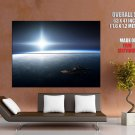 Space Station Earth Stars Sun Huge Giant Print Poster