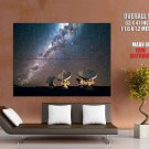 Radio Telescopes Milky Way Stars Space Huge Giant Print Poster