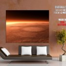 Mars Surface Red Planet Space Huge Giant Print Poster