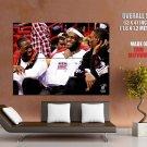 Wade James Bosh Laughing Miami Heat POSTER