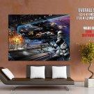 Clone Vs Droid Battle Star Wars HUGE GIANT Print Poster