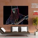 Buckethead Neon Greatest Guitarists HUGE GIANT Print Poster