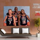 Usa Dream Team Bird Jordan Johnson Huge Giant Print Poster