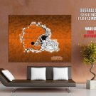 Cleveland Browns Logo Football Nfl Huge Giant Print Poster