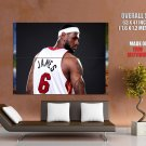 Lebron James Miami Heat Nba Huge Giant Print Poster